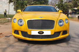 Second hand yellow Bentley - PCH Auto World - pre owned luxury cars